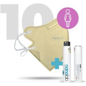 Nanolab Dámské Nano respirátory FFP2 béžové 10 ks recenze, cena, návod