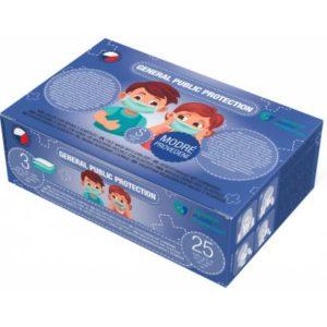 General Public Protection třívrstvá jednorázová dětská rouška S modrá 25 ks recenze, cena, návod