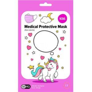 Pharma Activ rouška ústenka Medical 3-vrstvá jednorázová jednorázová Dívčí růžová 10 ks recenze, cena, návod