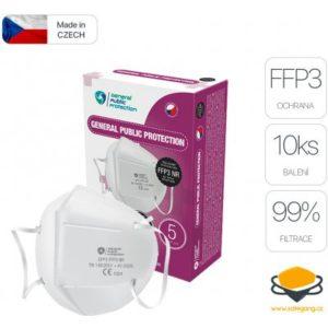 General Public Protection respirátor FFP3 10 ks recenze, cena, návod