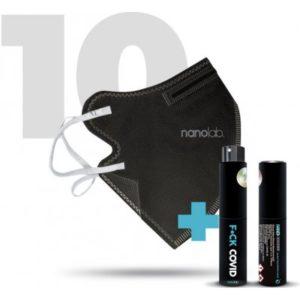 Nanolab bezpečný nano respirátor FFP2 černý 10 ks recenze, cena, návod