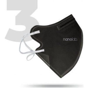 Nanolab bezpečný nano respirátor FFP2 černý 3 ks recenze, cena, návod