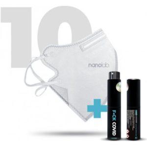 Nanolab Nano respirátory FFP2 bílé 10 ks recenze, cena, návod